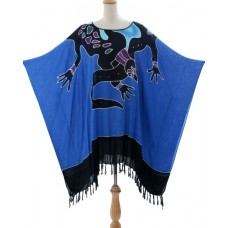 Poncho Tunic Abstract Batik